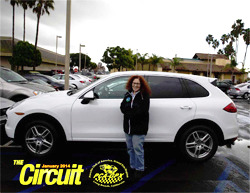 Suesan Way with her new 2014 Cayenne diesel