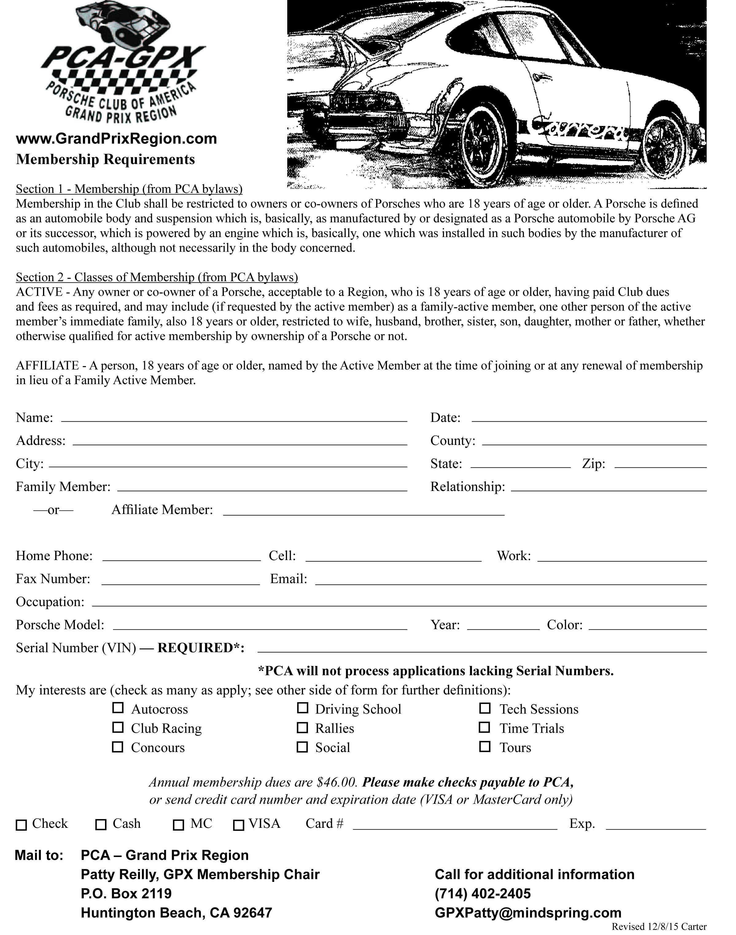 Membership application-2016-Back