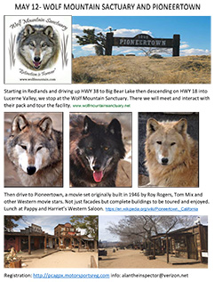 May 12-Wolf Mountain Sanctuary and PioneerTown